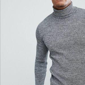ASOS Muscle fit roll neck sweater
